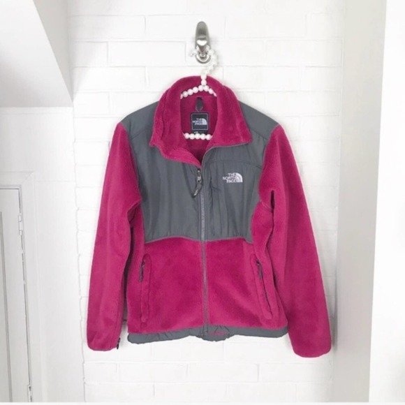 {The North Face} Pink Fuzzy Zip Up Jacket